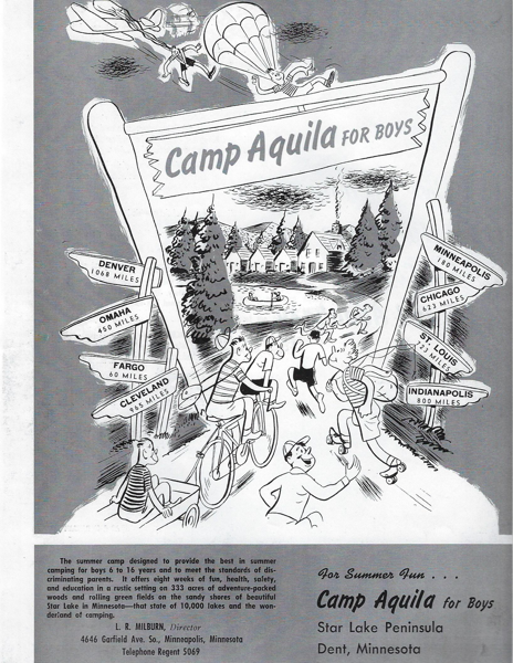 Historical photo of Camp Aquila Brochure
