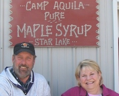Owners of Camp Aquila Pure Maple Syrup
